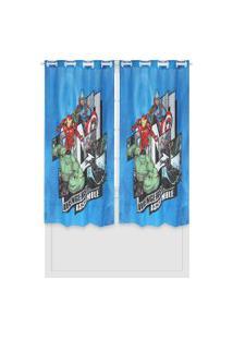 Cortina Lepper Avengers Azul
