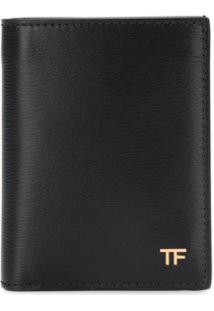 Tom Ford Carteira Dobrável Com Logo - Preto