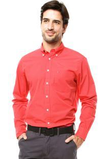 Camisa Tommy Hilfiger Bordado Vermelha
