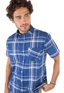 Camisa Xadrez Azul Marinho / Off