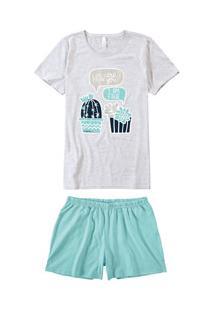 Pijama Curto Suculentas Malwee Liberta (1000060092) Algodão