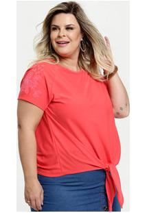 Blusa Feminina Estampa Flores Plus Size
