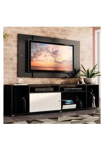 Rack Madesa Cancun E Painel Para Tv Até 58 Polegadas - Preto/Branco 778N Preto