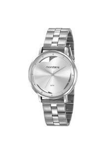 Kit Relógio Feminino Mondaine 53748L0Mkne3K1 Analógico 3Atm + Pulseira   Mondaine   Prata   U