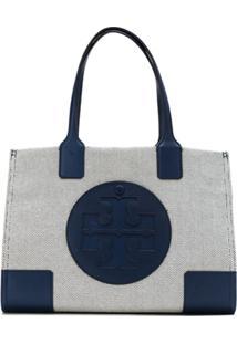 Tory Burch Bolsa Tote 'Ella Canvas' Mini - Azul