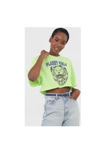 Camiseta Cropped Planet Girls Leão Verde