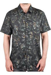 Camisa Mcd Manga Curta Estampada Masculina - Masculino