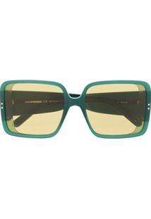 Courrèges Eyewear Oversized Rectangular Sunglasses - Verde