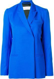Victoria Beckham Blazer Com Abotoamento Duplo - Azul