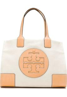 Tory Burch Bolsa Tote 'Ella Canvas' Mini - Amarelo