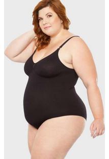 Body Modelador Plus Size Pretog Preto