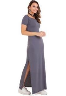 Vestido Gola Canoa Feminino - Feminino