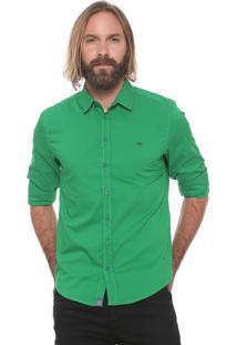 Camisa Triton Slim Logo Verde