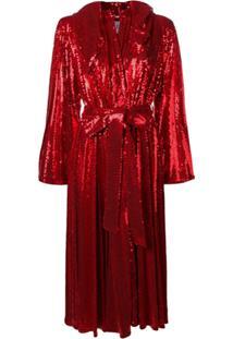 Atu Body Couture Hooded Sequin Dress - Vermelho