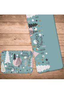 Jogo Americano Com Caminho De Mesa Merry Christmas Kit Com 4 Pã§S + 1 Trilho - Multicolorido - Dafiti