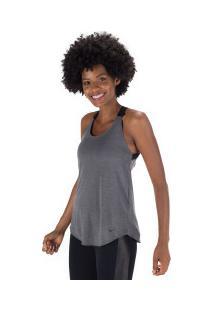Camiseta Regata Nike Dry Tank Elastika - Feminina - Cinza Escuro