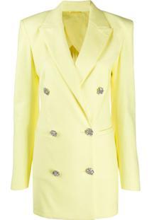 Attico Vestido Blazer Com Abotoamento Duplo - Amarelo