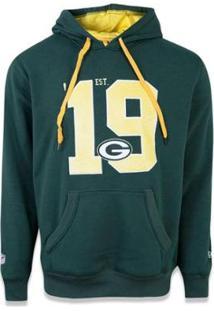 Moletom Canguru Fechado Green Bay Packers Nfl New Era Masculino - Masculino