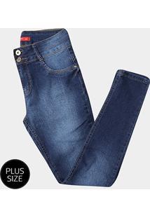 Calça Jeans Skinny Biotipo Plus Size Feminina - Feminino