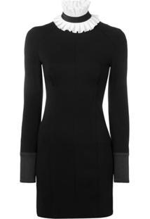 Karl Lagerfeld Detachable Collar Punto Dress - Preto