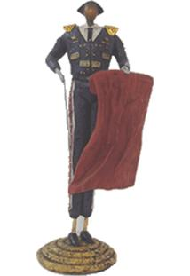 Escultura Decorativa De Resina Toureiro Ii