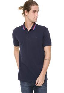 Camisa Polo Triton Reta Listras Azul-Marinho