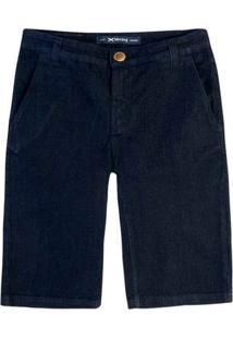Bermuda Jeans Masculina Tradicional Com Lavação Escura Hering