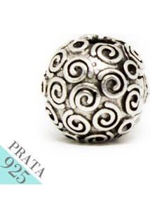 Pingente Prata 925 Trava De Rococo Memories Kumbayá Joias - Feminino-Prata