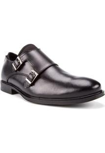 Sapato Masculino Com Fivela Preto