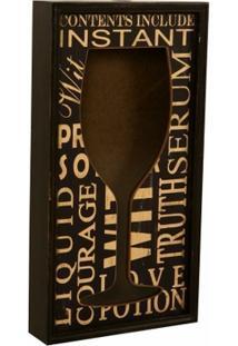 Quadro Porta-Rolhas Decorativo De Parede Wine - Unissex