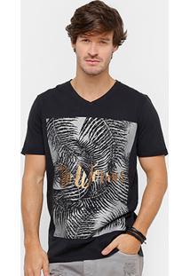 Camiseta Colcci No Worries Metalizada Masculina - Masculino