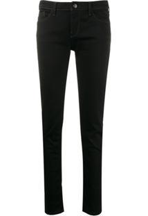 Emporio Armani Calça Jeans Skinny Cintura Baixa - Preto
