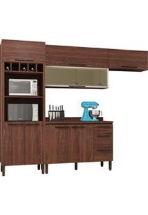 Cozinha Modulada Compacta 5 Peças Viv Concept C02 Nogueira - Kit´S Par
