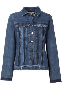 Jaqueta Le Lis Blanc Recortes Lab Jeans Azul Feminina (Jeans Médio, P)