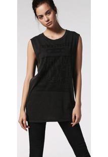 Camiseta Diesel T-Wessy-L - Feminino-Preto