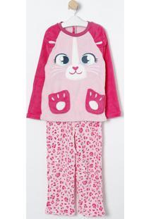 Pijama Oncinha- Rosa Claro & Pink- Puketpuket