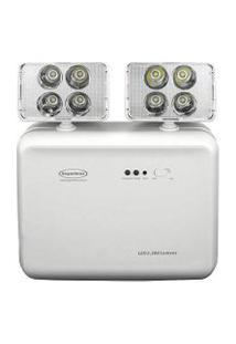 Luminária De Emergência Led Segurimax 2200 Lúmens 2 Faróis