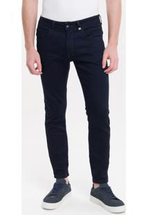 Calça Jeans Five Pockets Super Skinny - Marinho - 38