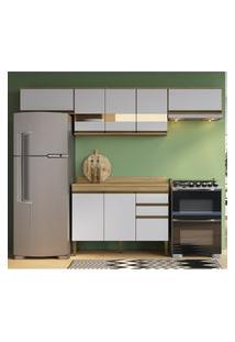 Cozinha Compacta Casablanca C/ Tampo Casa Mia A3490 Mel E Off White