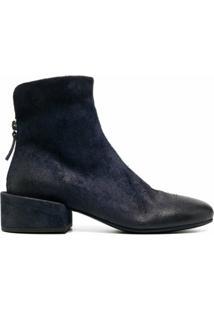 Marsèll Ankle Boot De Camurça - Azul
