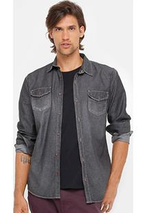Camisa Jeans Colcci Manga Longa Masculina - Masculino