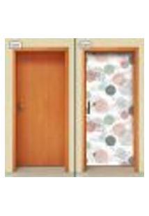 Adesivo Decorativo De Porta - Flores - 1630Cnpt