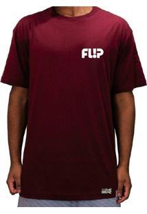 Camiseta Flip Skateboards Odyssey Chest Bordô
