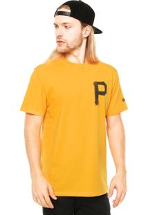 Camiseta Manga Curta New Era Flag Usa 6 Pittsburgh Pirates Amarela