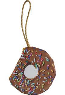 Bolsa Transversal Clutch Me Donuts Marrom