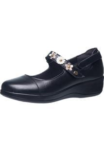 Sapato Diabético Anabela Doctor Shoes 7993 Preto - Kanui