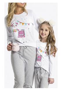 Pijama Adulto Longo Lhama Malwee Liberta (1000052490)