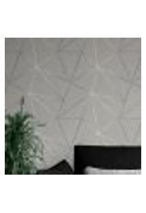 Papel De Parede Adesivo Autocolante Geométrico Mescla Silver