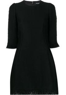 Dolce & Gabbana Bouclé Mini Dress - Preto