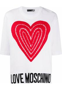 Love Moschino Blusa De Crochê E Tricô - Branco